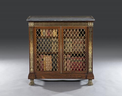 Early 19th Century Regency Period Breakfront Rosewood & Brass Mounted Marble Top Side Cabinet attributed to Gillow's of Lancaste