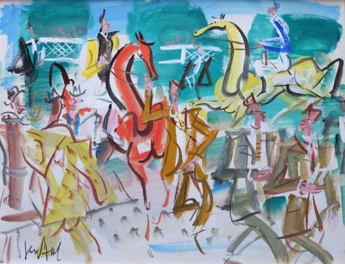 L'hippodrome by Gen Paul (1895 – 1975)