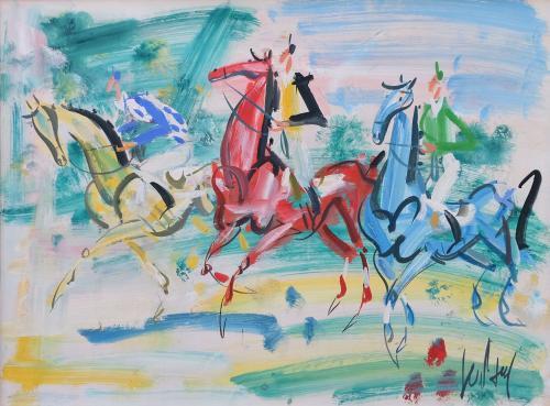 Les courses, vers 1950 by Gen Paul (1895 – 1975)