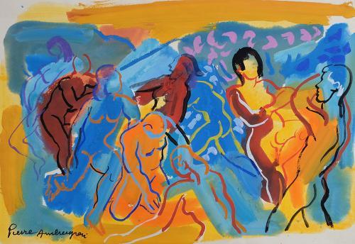 Nus dans un paysage fauve by Pierre Ambrogiani (1907 – 1985)
