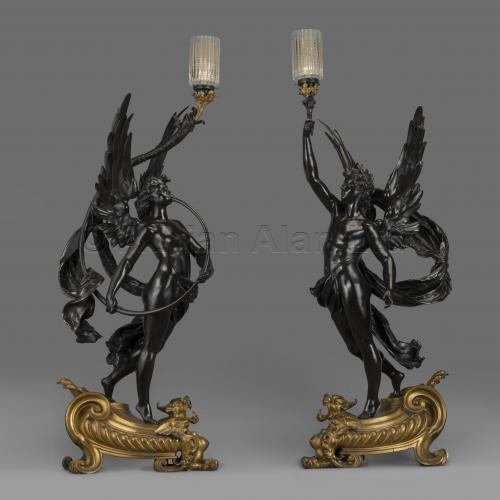 Pair Torcheres ©AdrianAlanLtd