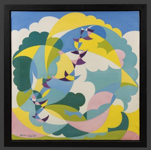 Giacomo Balla (Italian, 1871-1958) Paesaggio + Volo di Rondini (Landscape and Swallows in Flight), circa 1919