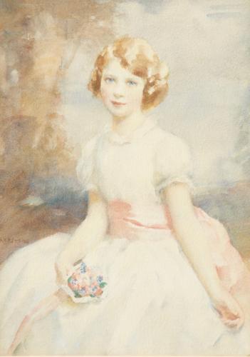 Walter Ernest Webster RI ROI 1878 - 1959 The Young Princess Elizabeth Circa 1936 Watercolour