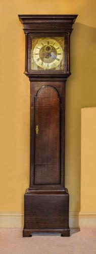 Brass Dial Longcase Clock with 8 Day Striking Movement