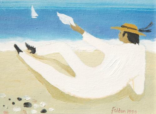 Julian on a Beach, Mary Fedden RA