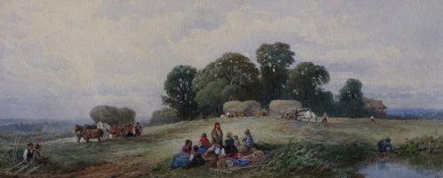 The Haymakers Rest by Edward Duncan RWS 1803-1882