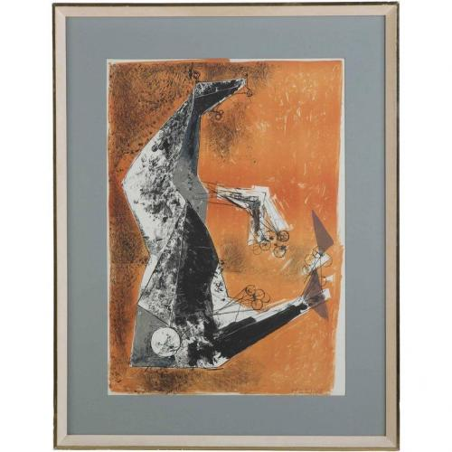 """""""Miracolo"""" by Marino Marini lithograph in colours"""