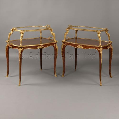 Pair of Etagere Tables ©AdrianAlanLtd