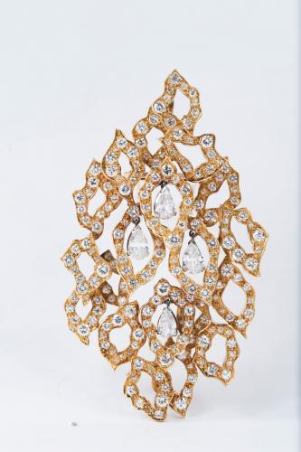 Andrew Grima diamond set open-work pendant/brooch circa 1960