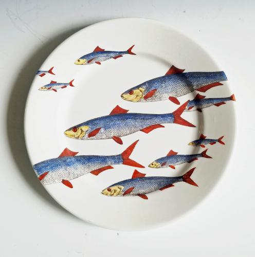 Piero Fornasetti Pottery Fish Plate, Passata de pesce