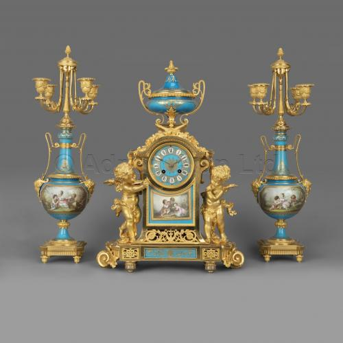 Clock Garniture ©AdrianAlanLtd