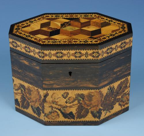 Tunbridge Ware Tea Caddy