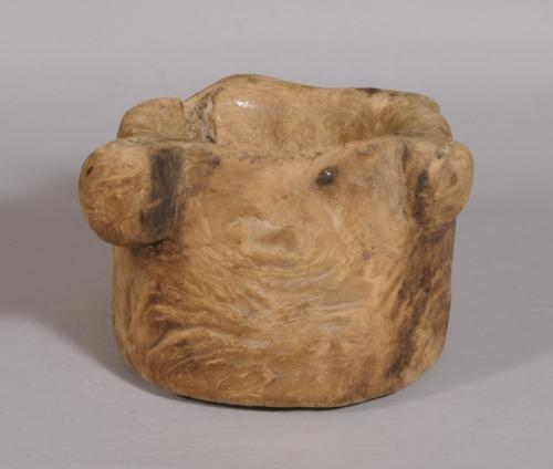 S/3405 Antique Treen Birch Mortar