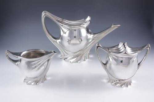 Paul Follot Art Nouveau Tea Set for FW Quist