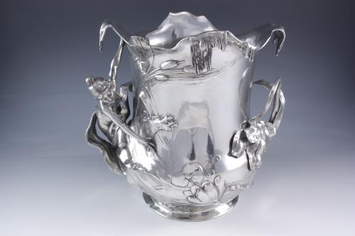 WMF Champagne Bucket in Polished Pewter, circa 1905