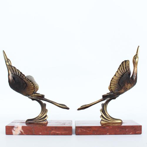 Art Deco Stork Bookends