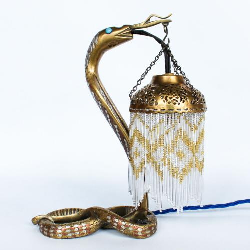 Art Deco Serpent Lamp