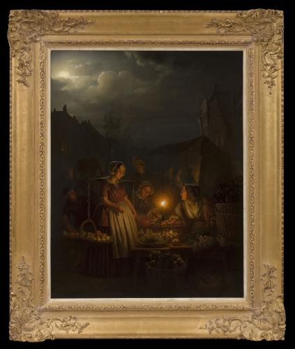 Evening Market - Petrus van Schendel (1806 - 1870)