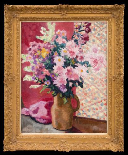Fleurs Roses au Pichet en Terre - Louis Valtat  (1869 - 1952)