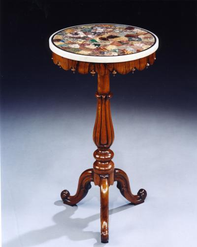 19th Century Specimen Marble Top Rosewood Occasional Table English Circa 1850