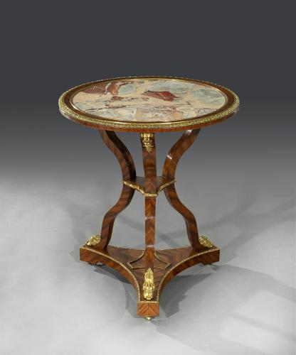Early 19th Century Kingwood & Ormulo Mounted Marble Top Centre Table English Circa 1815