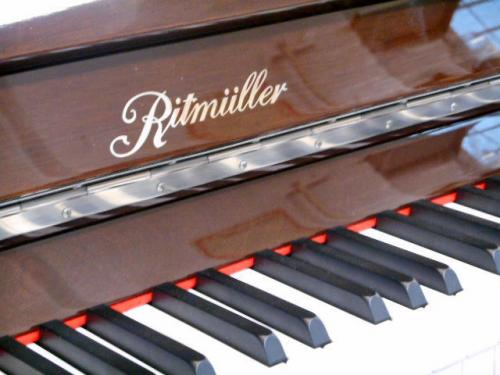 Ritmuller 118cm traditional upright piano mahogany polished new - picture of fall