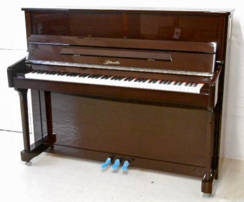 Ritmuller 118cm traditional upright piano walnut