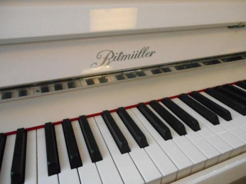 Ritmuller 112cm modern upright piano white new (fall)