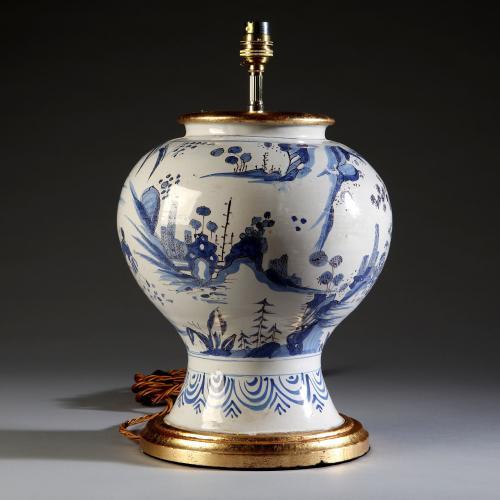 A 19th Century Blue and White Dutch Delft Vase