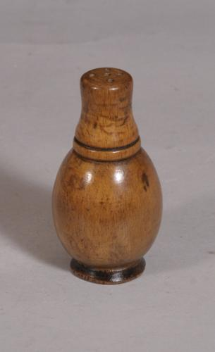 S/3450 Antique Treen 19th Century Sycamore Pepper or Spice Shaker