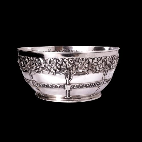 David Veazey silver rose bowl
