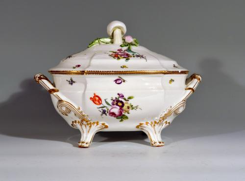 French Porcelain Soup Tureen and Cover,    Boissettes Factory,
