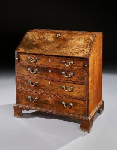 A George III Chippendale Period Mahogany Bureau