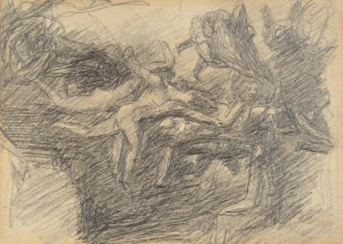 George Romney (British 1734-1802) Study for 'The Temptation of Christ'