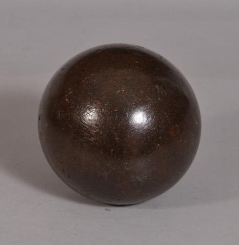 S/3468 Antique Treen Lignum Vitae Bowling Ball
