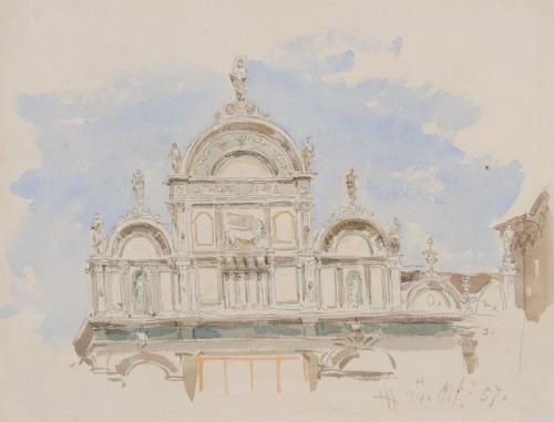 The Ospedale Civile, Venice, James Holland, OWS (British, 1799–1870)