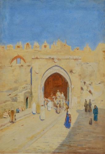 Damascus Gate, Jerusalem, Stanley Inchbold, RBA (1856-1921)