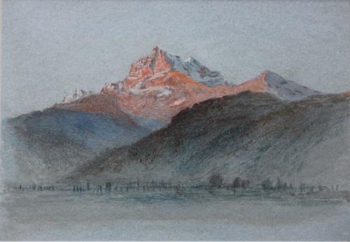 Dent du Midi, Arthur Severn (British, 1842–1931)