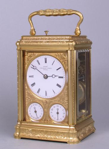 Holingue freres for Grohe engraved gorge carriage clock