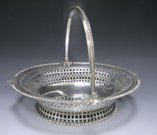 A George III Antique Silver Cake Basket