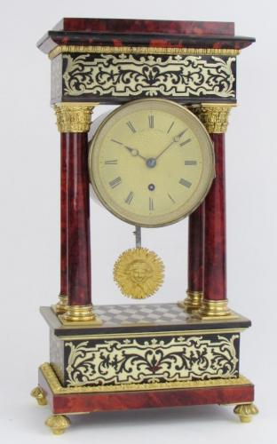 Viner London Tortoiseshell Fusee Mantel Clock