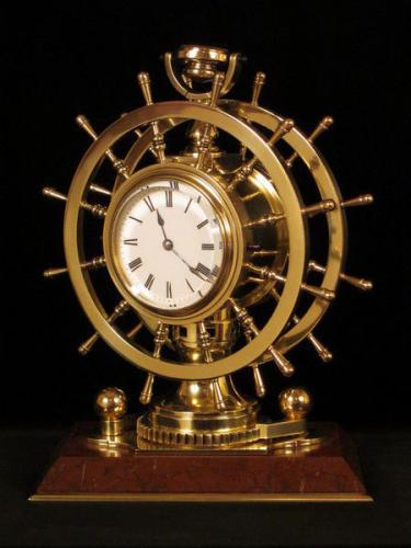 Redier ships wheel clock