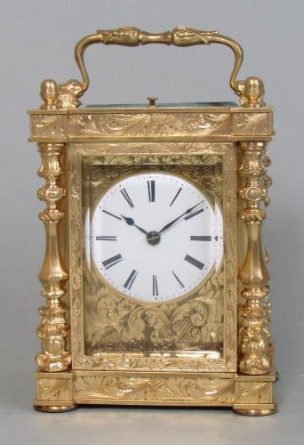Drocourt Empire Style Carriage Clock