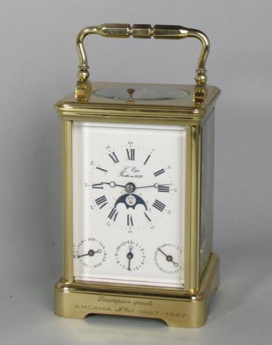 L'Epée Switzerland: A Rare Moonphase Carriage Clock with Tourbillon Escapement
