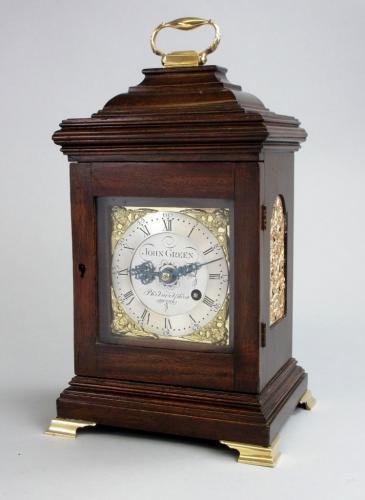 Green Philadelphia Fusee Bracket Clock