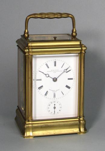 Le Roy Baveux Jacot Half-hour Sonnerie Carriage Clock