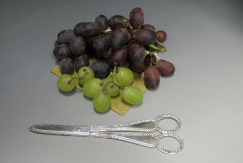 A Pair of Sterling Silver Grape Scissors / Shears