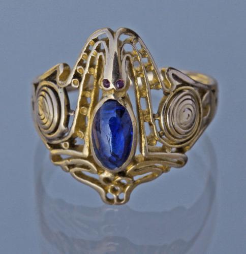 KARL ROTHMÜLLER (1860-1930) Superb Octopus Ring