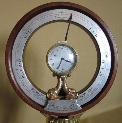 Carmen clock barometer pedestal