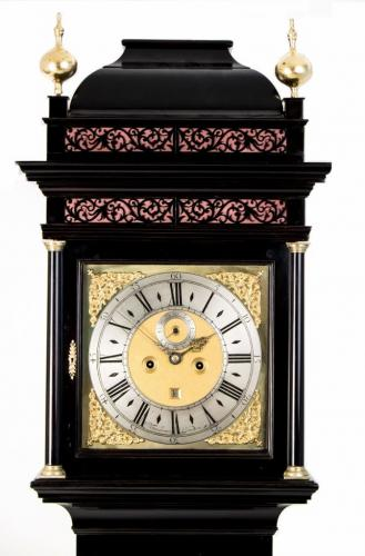 William Tomlinson Ebonised Longcase Clock